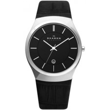 Мужские часы Skagen 925XLSLB Leather Swiss