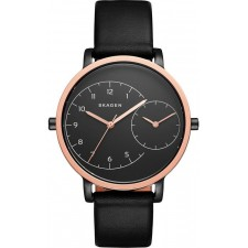 Женские часы Skagen SKW2475 Hagen Dual-Time Leather