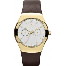 Мужские часы Skagen 583XLGLD Leather Swiss