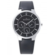 Мужские часы Skagen 331XLSLB Leather Classic