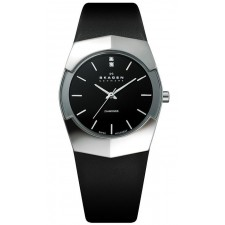 Женские часы Skagen 580SSLB Leather Swiss