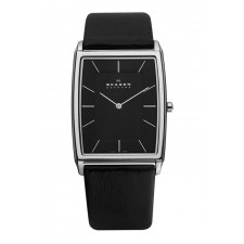 Мужские часы Skagen 857LSLB Leather Rectangular