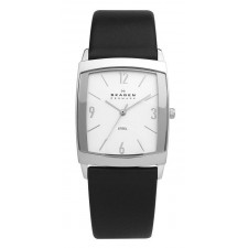 Мужские часы Skagen 691LSLS Leather Rectangular