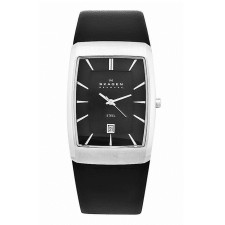 Мужские часы Skagen 690LSLB Leather Rectangular