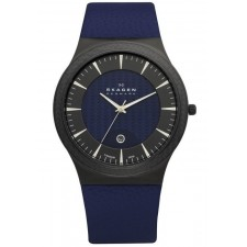 Мужские часы Skagen 234XXLTBLN Leather Titanium